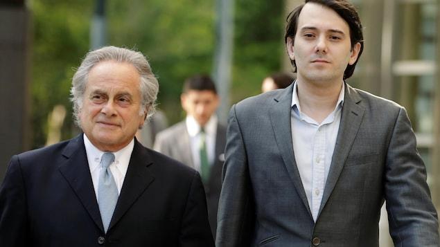 Martin Shkreli et son avocat Benjamin Brafman