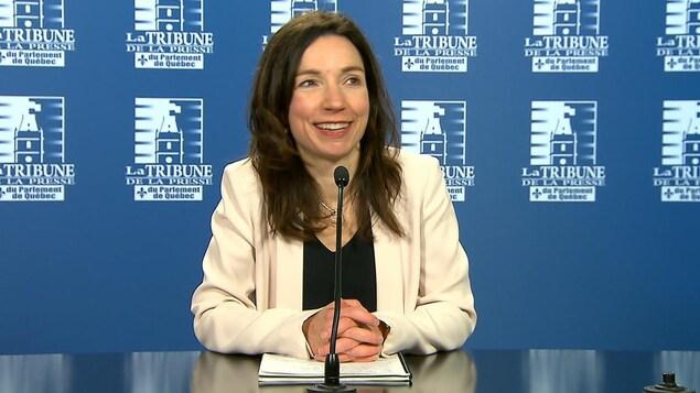 Martine Ouellet, à quelques heures de devenir la prochaine chef du Bloc québécois.