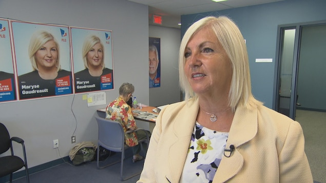 La candidate libérale dans Hull Maryse Gaudreault.
