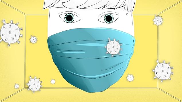Pour être efficace, le masque doit être porté adéquatement.