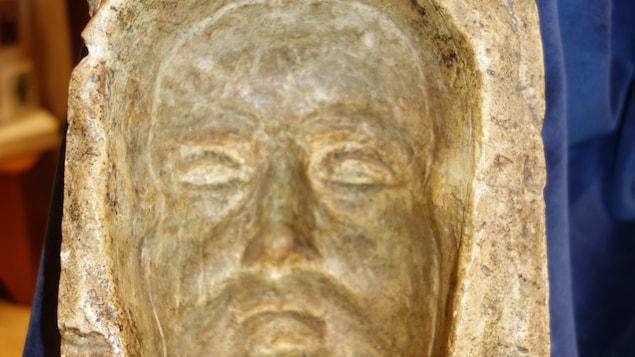 Le masque funéraire qui serait celui de Marie de l'Incarnation