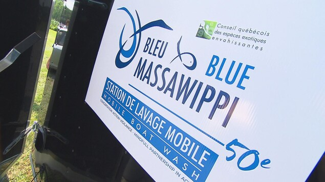 Affiche de l'organisme Bleu Massawipi.