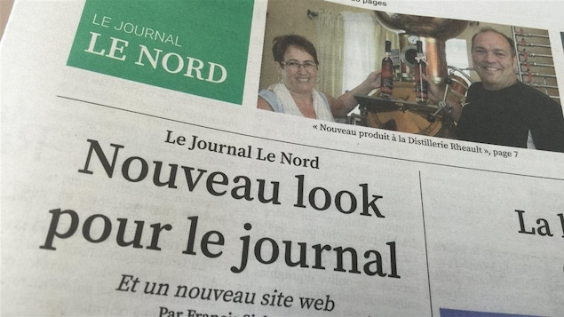 Une du Journal Le Nord.