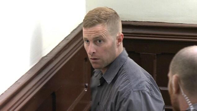 Matthew Percy au tribunal.