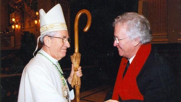 Mgr Maurice Couture et Jean-Paul L'allier, maire de Québec en 2003.