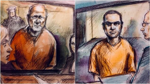 Deux sketchs de cour juxtaposés