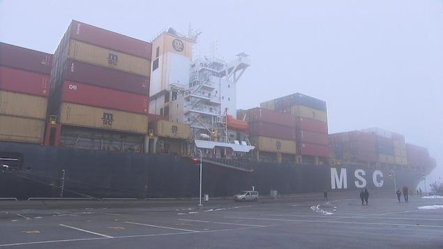 Le porte-conteneurs MSC Maria Pia.