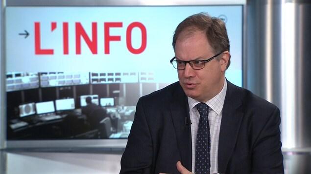 Le président de la FPJQ, Stéphane Giroux.