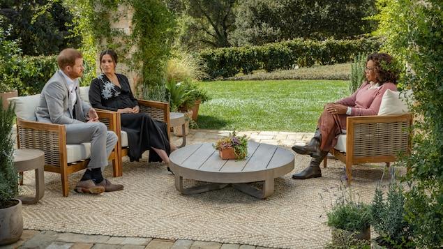 Prince Harry, Meghan Markle et Oprah Winfrey.