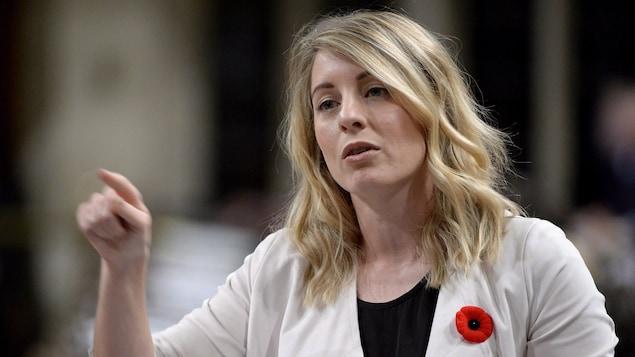 La ministre du Patrimoine canadien, Mélanie Joly, à la Chambre des communes le 31 octobre 2017.