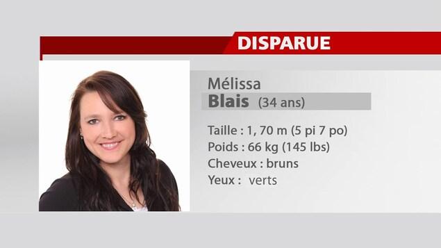 Image de Mélissa Blais avec sa description