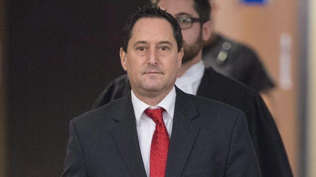 Michael Applebaum après le prononcé du verdict à son procès au palais de justice de Montréal, le 26 janvier 2017
