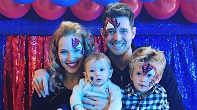 Michael Bublé et sa famille