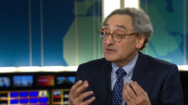 Michael Sabia, PDG de la Caisse de dépôt et placement du Québec, en entrevue au Téléjournal Grand Montréal