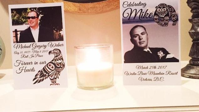 Un mémorial pour Michael Widner.