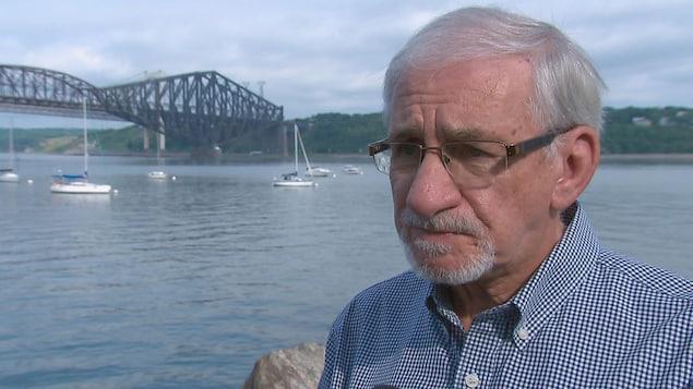 Michel L'Hébreux, historien et passionné du pont de Québec