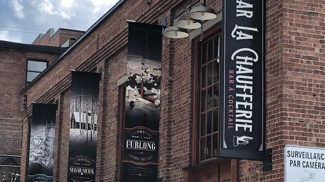 La devanture de la Chaufferie de Granby, une usine de production d'alcool.