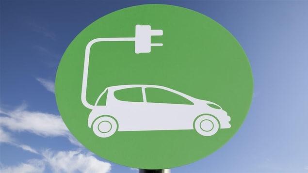 Une borne de recharge pour voiture électrique