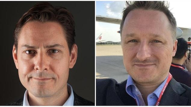 Michael Kovrig (à gauche) et Michael Spavor (à droite) ont été arrêtés par les autorités chinoises.