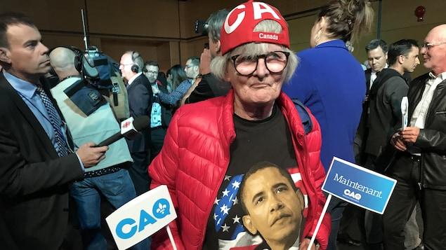 Lucille Gilbert, une militante de la CAQ