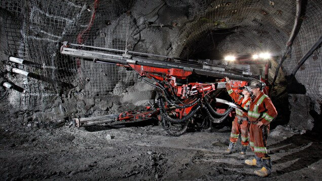 Intérieur de la mine Goldcorp à Red Lake en Ontario.