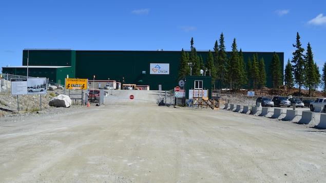 L'usine de la mine North American Lithium.