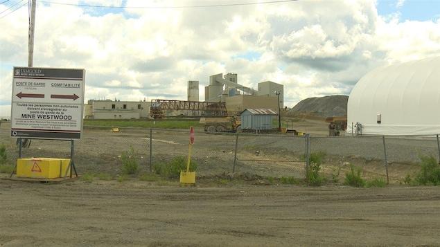 La mine Westwood, à Rouyn-Noranda.
