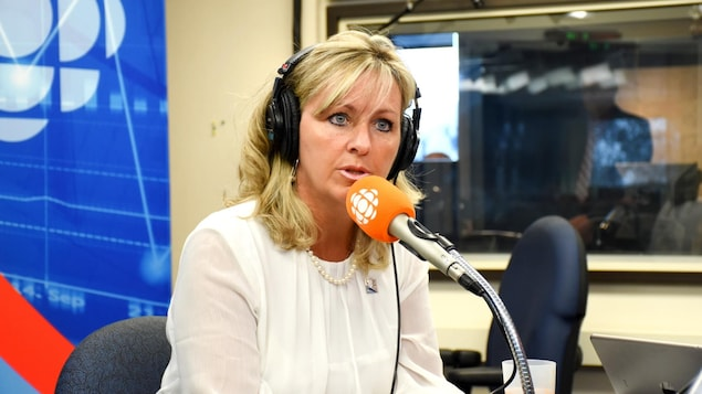 Andrée Laforest en entrevue.