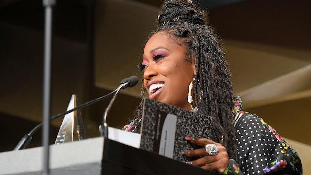 Missy Elliott sur scène lors du gala.