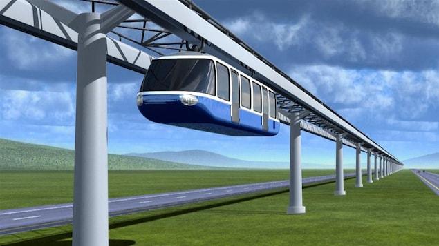 Représentation d'un monorail