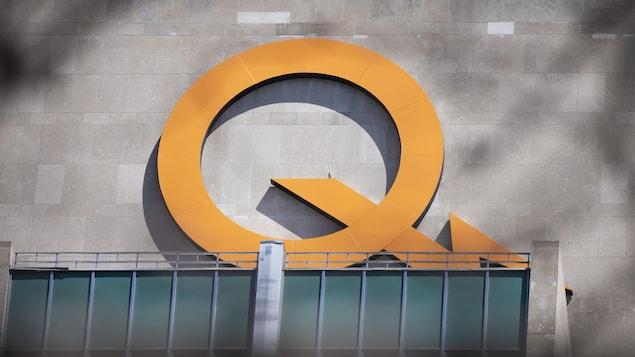 Le sigle d'Hydro-Québec sur le siège social.