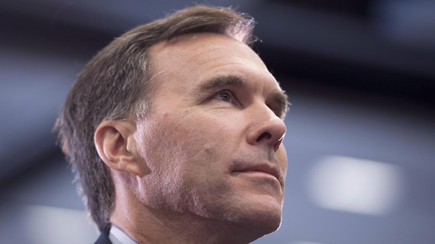 Une photo du ministre fédéral des Finances, Bill Morneau