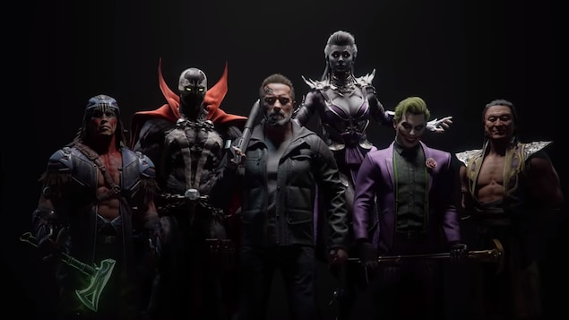 Nightwolf, Spawn, Terminator, Sindel, le Joker et Shang Tsung dans « Mortal Kombat 11 »