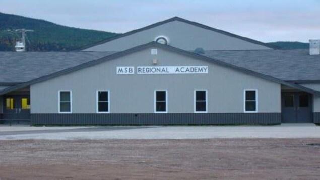 Façade de l'école MSB Regional Academy.