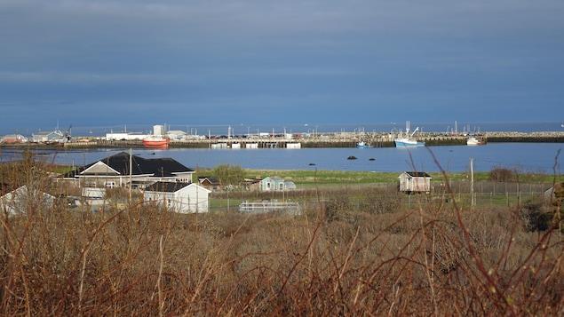 Vue du quai de pêche dans la municipalité de Clare dans le sud de la Nouvelle-Écosse.