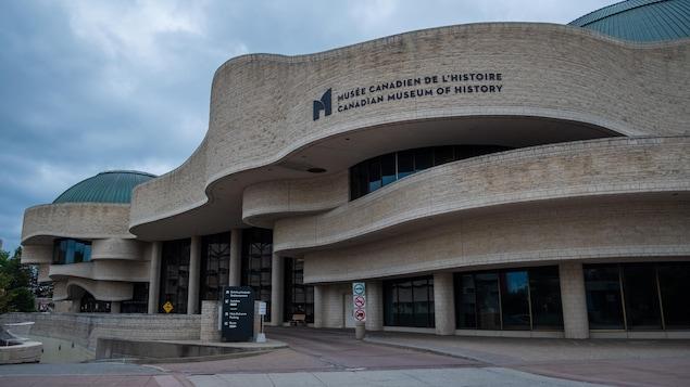 Le Musée canadien de l'histoire à Gatineau.