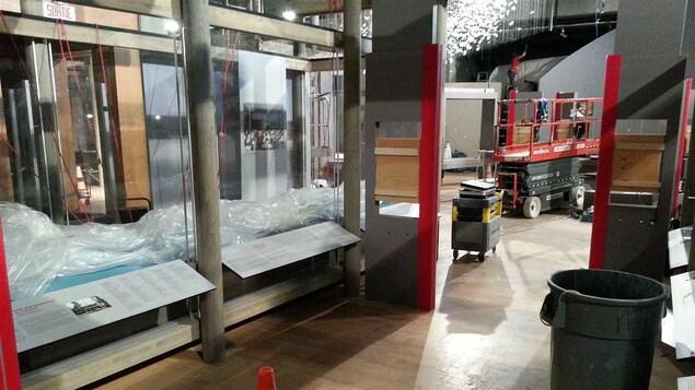 La machinerie est en place pour réparer les installations.