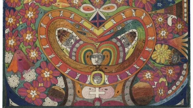 L'oeuvre «Couronne d'épines de Rosalie en forme de cœur», réalisée par l'artiste Adolf Wölfli.