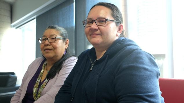 Louise Mayappo et Stéphanie Georgekish, de la nation crie de Wemindji