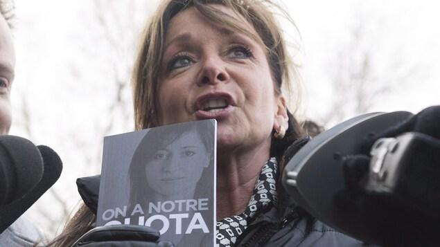 La présidente de la Fédération interprofessionnelle de la santé (FIQ), Nancy Bédard.