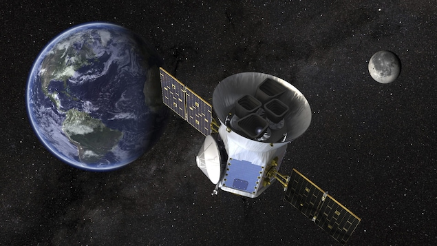 Une illustration du satellite Transiting Exoplanet Survey (TESS)