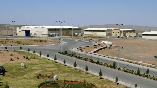 Des bâtiments de la centrale nucléaire de Natanz, en Iran.