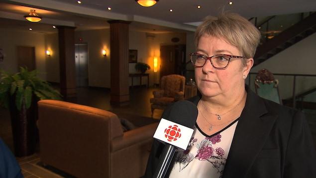 Nathalie Savard est présidente du Syndicat des Infirmières et Infirmiers du Nord-Est québécois  (SIISNEQ)