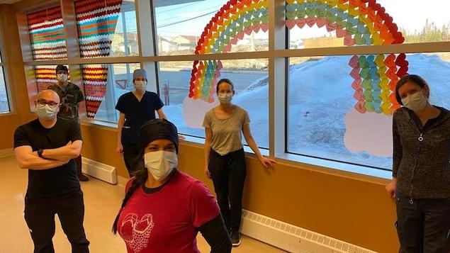 Photos de membres du personnel médical du centre communautaire de santé Miyupimaatisiiun de Mistissini.