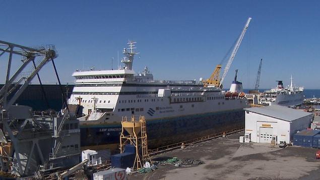 Le chantier maritime des Méchins Verreault Navigation