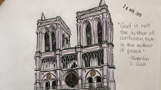 Le dessin de la cathédrale et cette citation de Quentin L. Cook : « God is not the author of confusion, but is the author of peace ».