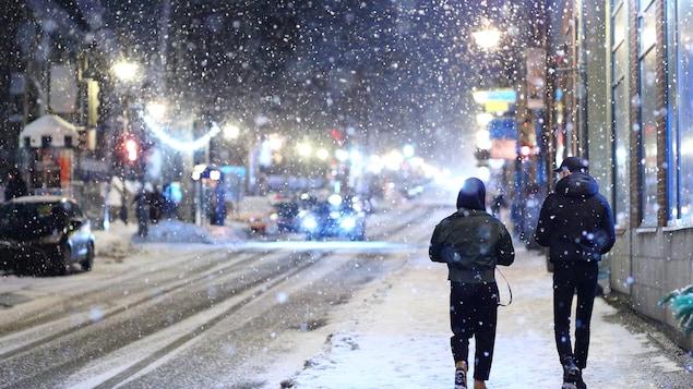 La rue St-Jean sous la neige.