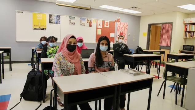 Newcomer students at St. Malachy's High School in Saint John learn the language and culture for up to a year before joining typical classes.