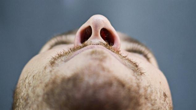 Le nez d'un homme