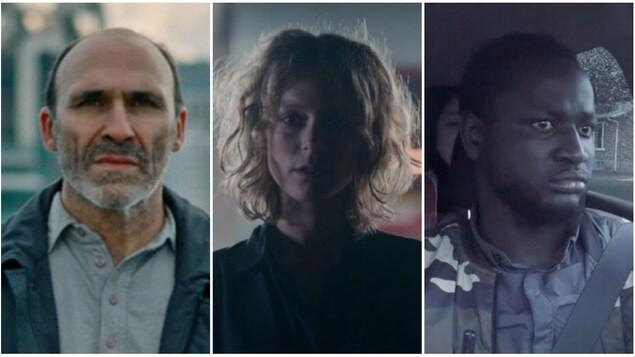 Portraits de trois personnages tirés des films